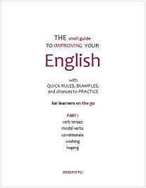 cover image of the grammar booklet, The small guide To Improving Your English