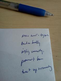photo: illegible handwriting