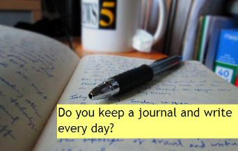 Keep a journal. Write to improve your English