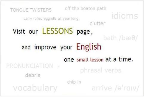 image to page with English lessons