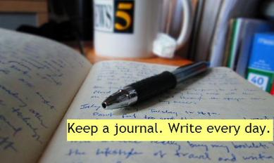 photo: keeping a journal to improve your English